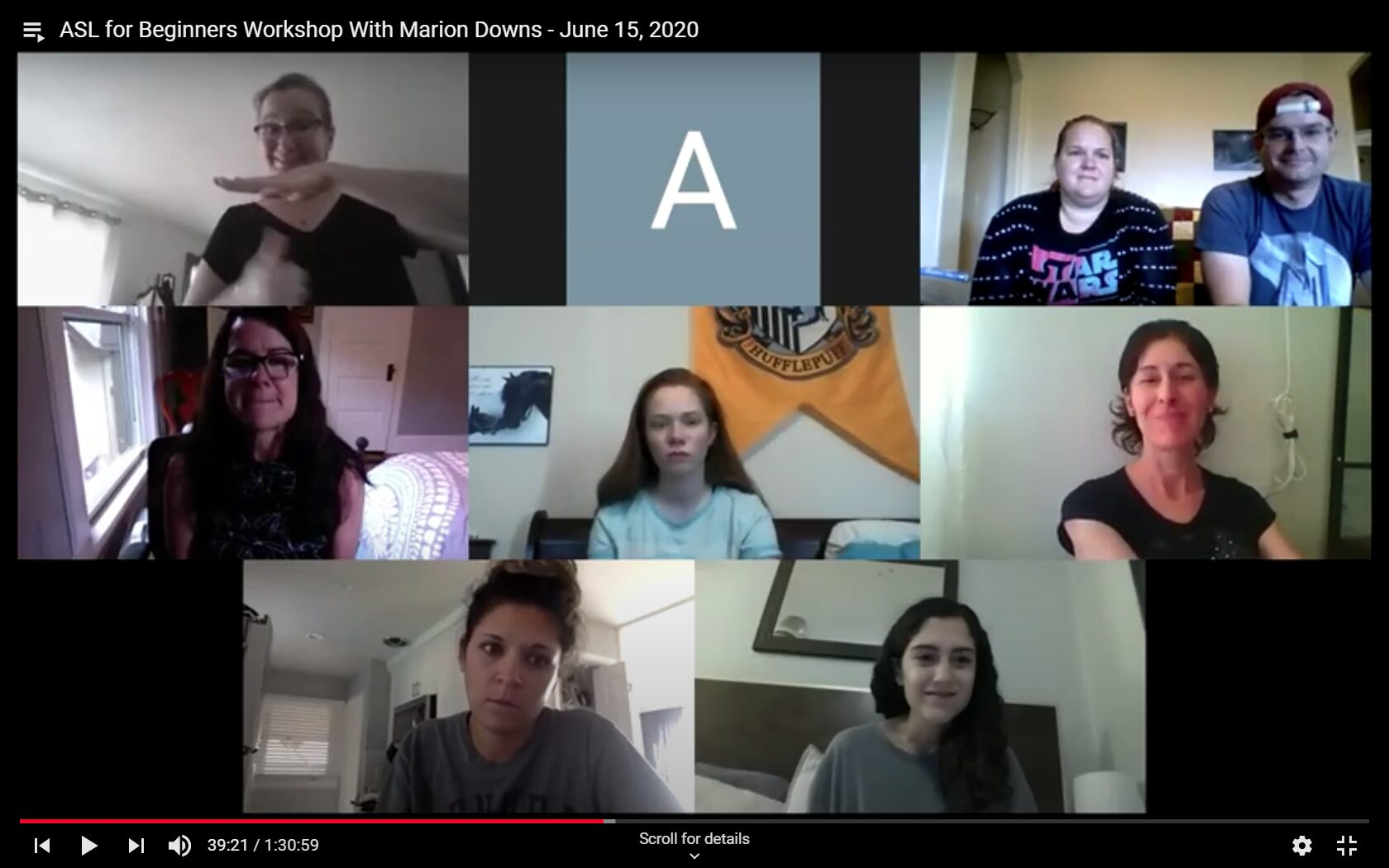 screenshot of a group video call