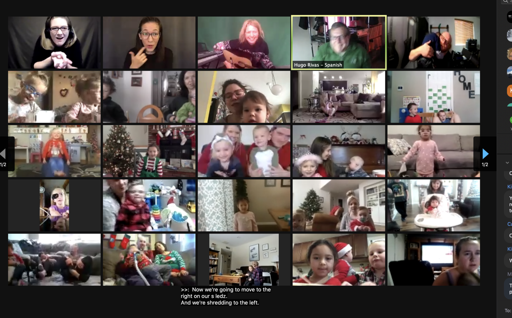 a picture of a group video call